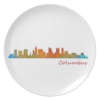 Columbus Ohio, City Skyline, v1 Plate