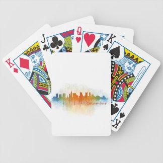 Columbus Ohio, City Skyline, v3 Bicycle Playing Cards