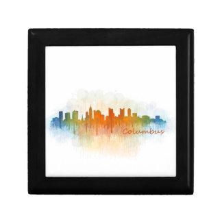Columbus Ohio, City Skyline, v3 Gift Box