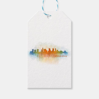 Columbus Ohio, City Skyline, v3 Gift Tags