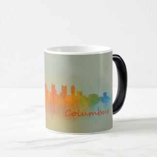 Columbus Ohio, City Skyline, v3 Magic Mug