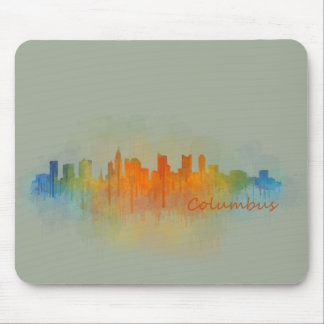 Columbus Ohio, City Skyline, v3 Mouse Pad