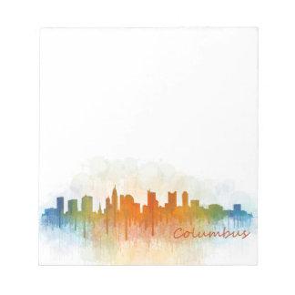Columbus Ohio, City Skyline, v3 Notepad