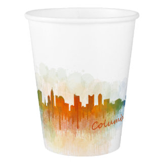 Columbus Ohio, City Skyline, v3 Paper Cup