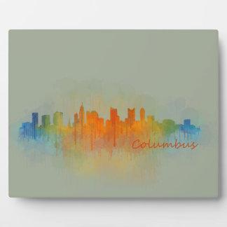 Columbus Ohio, City Skyline, v3 Plaque