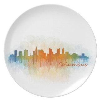 Columbus Ohio, City Skyline, v3 Plate
