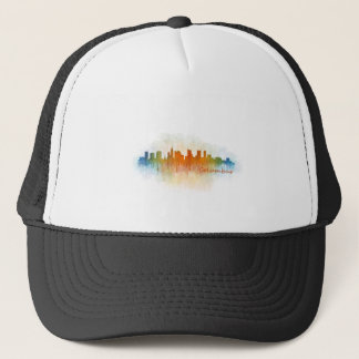 Columbus Ohio, City Skyline, v3 Trucker Hat