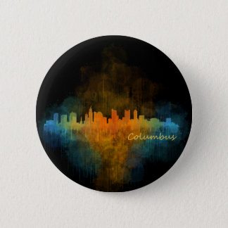 Columbus Ohio, City Skyline, v4 2 Inch Round Button