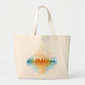 Columbus Ohio, City Skyline, v4 Large Tote Bag