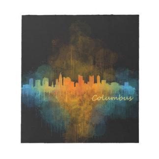 Columbus Ohio, City Skyline, v4 Notepad