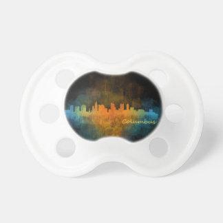 Columbus Ohio, City Skyline, v4 Pacifier