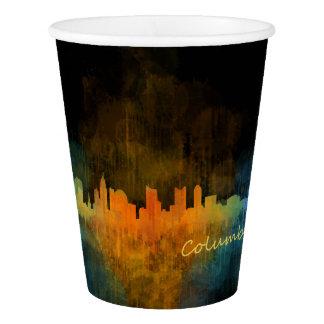 Columbus Ohio, City Skyline, v4 Paper Cup