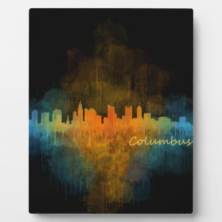 Columbus Ohio, City Skyline, v4 Plaque