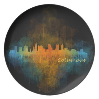 Columbus Ohio, City Skyline, v4 Plate
