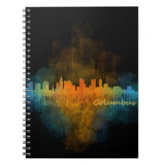 Columbus Ohio, City Skyline, v4 Spiral Notebook
