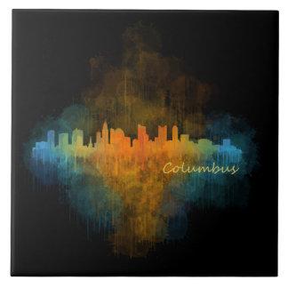 Columbus Ohio, City Skyline, v4 Tile