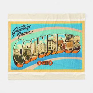 Columbus Ohio OH Old Vintage Travel Souvenir Fleece Blanket