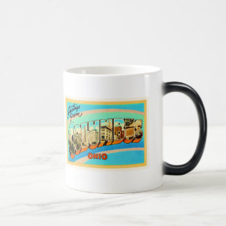 Columbus Ohio OH Old Vintage Travel Souvenir Magic Mug