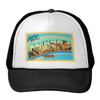 Columbus Ohio OH Old Vintage Travel Souvenir Trucker Hat