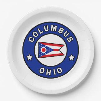 Columbus Ohio Paper Plate