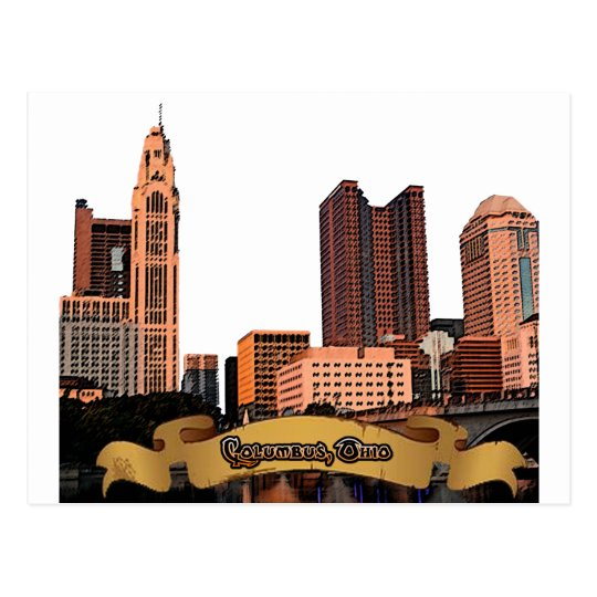 Columbus Ohio Skyline Postcard