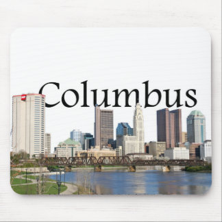 Columbus Ohio Skyline with Columbus in the Sky Mouse Pad