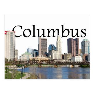 Columbus, Ohio Skyline with Columbus in the sky Postcard