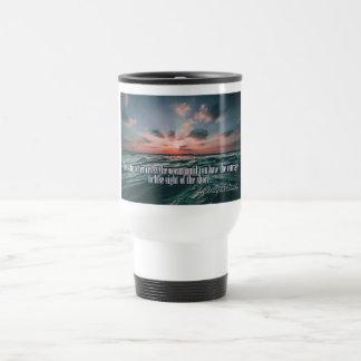 Columbus Quote Sunset custom monogram mugs