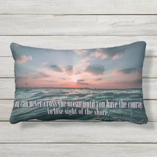 Columbus Quote Sunset throw pillows