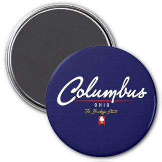 Columbus Script Magnet