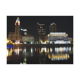 Columbus skyline canvas