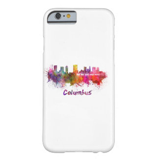 Columbus skyline in watercolor barely there iPhone 6 case