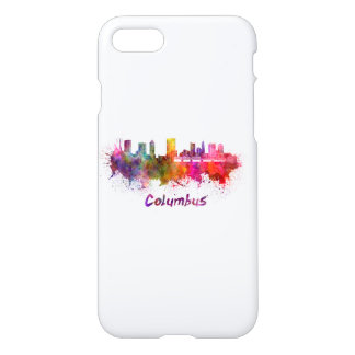 Columbus skyline in watercolor iPhone 8/7 case