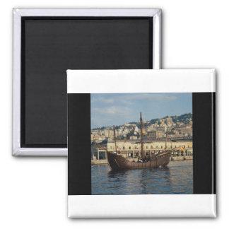"Columbus"", St. Mary Caravel in Genova port, Italy Magnet"