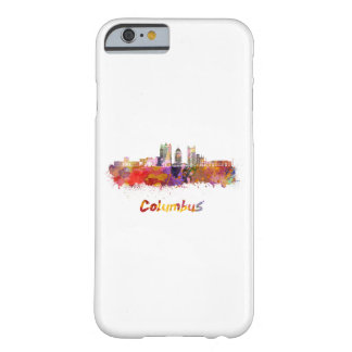Columbus V2 skyline in watercolor Barely There iPhone 6 Case