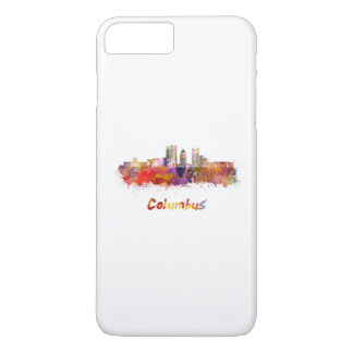 Columbus V2 skyline in watercolor iPhone 8 Plus/7 Plus Case