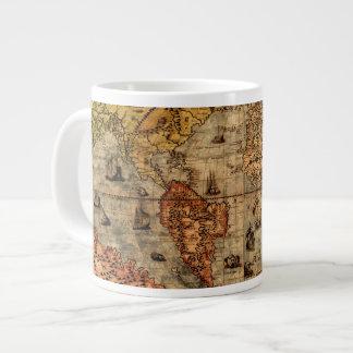 Columbus's Old World Map Jumbo Soup Mug