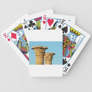 Column Capitals, Medinet Habu, Egypt Poker Deck