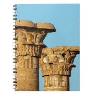 Column Capitals, Medinet Habu, Egypt Spiral Notebook