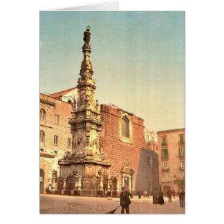 Column of the Virgin, Piazza Trinit&agrave Maggior Card