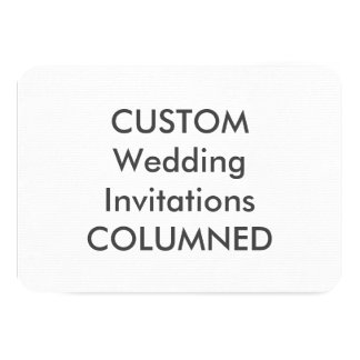 "COLUMNED 110lb 5"" x 3.5"" Wedding Invitations"