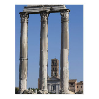 Columns of the Temple of Castor and Pollux with Postcard