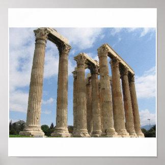 Columns Temple Zeus Poster