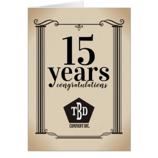 Columns universal employee anniversary card