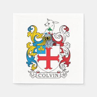 Colvin Family Crest Paper Napkins
