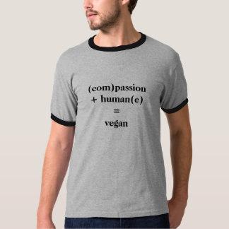 (com)passion+ human(e) =vegan T-Shirt