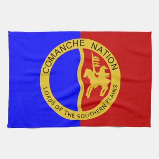 Comaanche Nation Flag Kitchen Towel