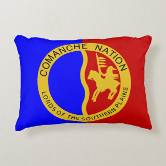 Comanche Nation Flag Decorative Pillow