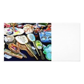 Comb Brush and Mirror Sets Personalized Photo Card