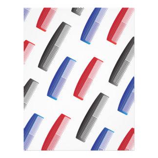 comb pattern letterhead